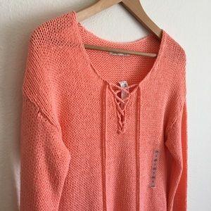 ✨1 Day Sale! 🛍 Old Navy sweater milky neon orange